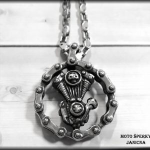 Motor s řetězem ocel