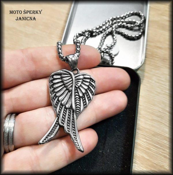 přívěšek andělská křídla ocel