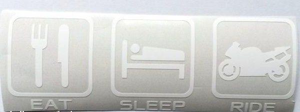 Eat sleep ride bílá