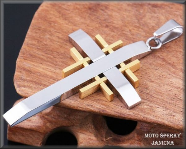 přívěšek kříž ocel