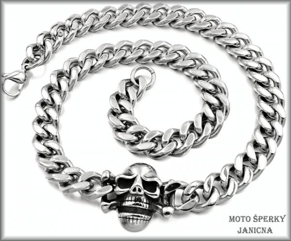 Řetěz na krk s lebkou