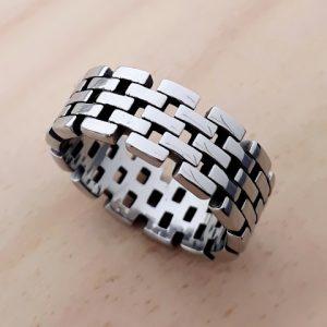 Pánský prsten ocel R36