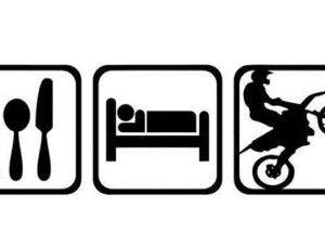 eat sleep ride černá
