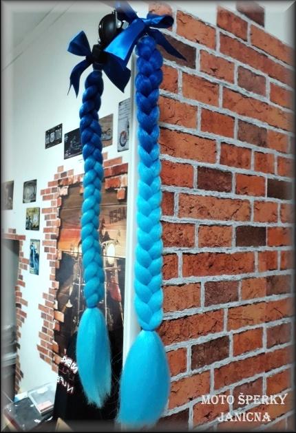 Culík na přilbu modrý