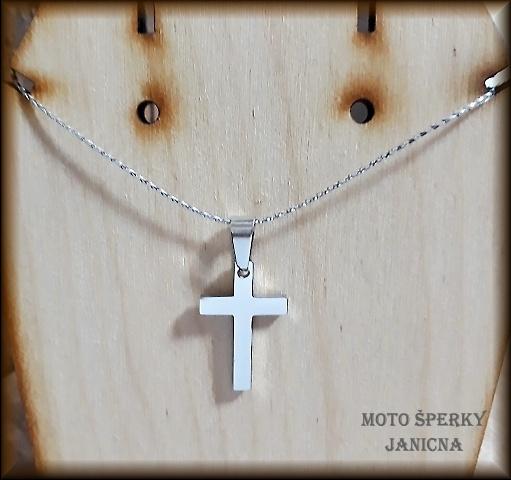 Přívěšek křížek ocel