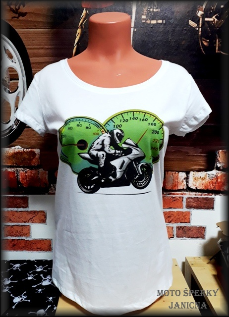 Dámské tričko motorkář
