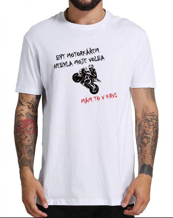 Pánské tričko motorkář