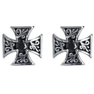 Náušnice Maltézský kříž