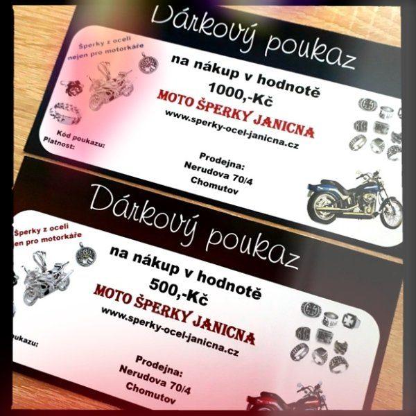 Dárkové poukazy Moto šperky Janicna