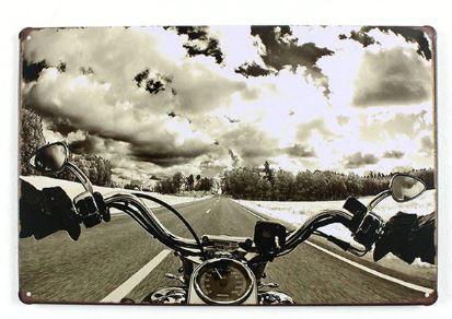 Plechová cedule Biker