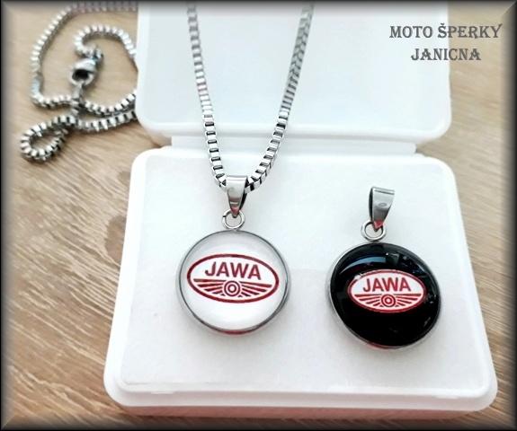 Přívěšek Jawa ocel