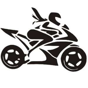 Nálepka motorkářka
