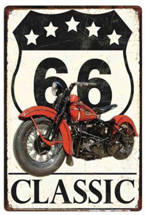 Plechová cedule Route 66