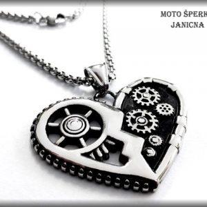 Motorkářské srdce ocel