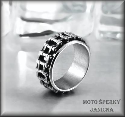Motorkářský prsten ocel