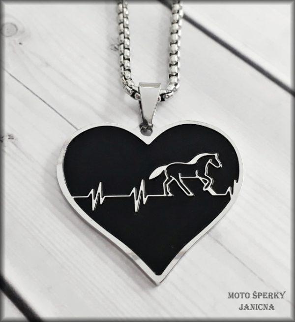 Přívěšek kůň srdce ocel