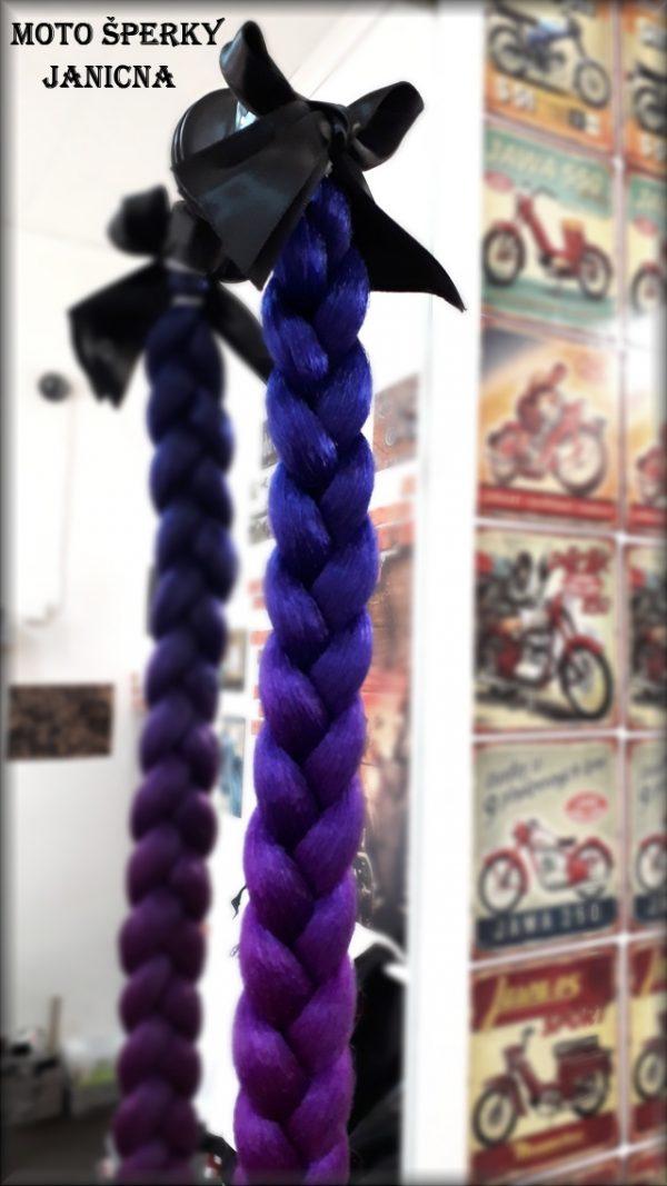 Culík cop na přilbu modro fialový