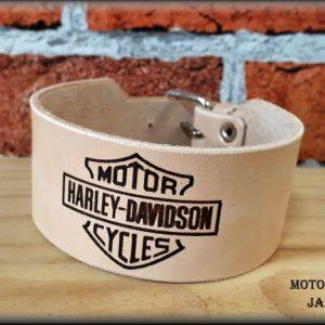 Kožený náramek Harley