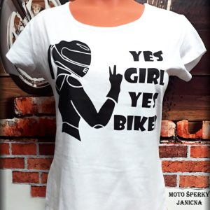 Dámské triko Yes Girl Yes biker