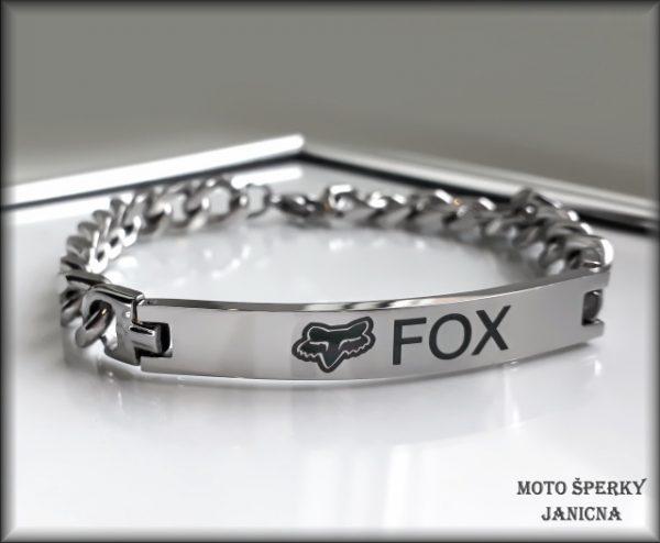 náramek Fox ocel
