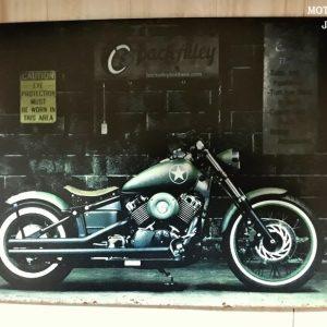 Plechová cedule motorka