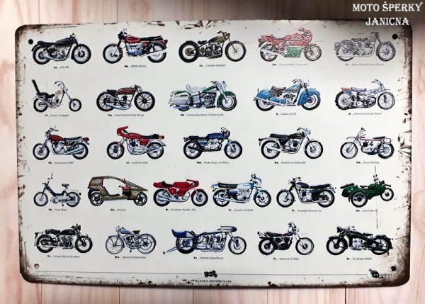 Plechová cedule motorky