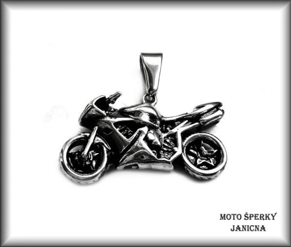Přívěšek silniční motorka ocel