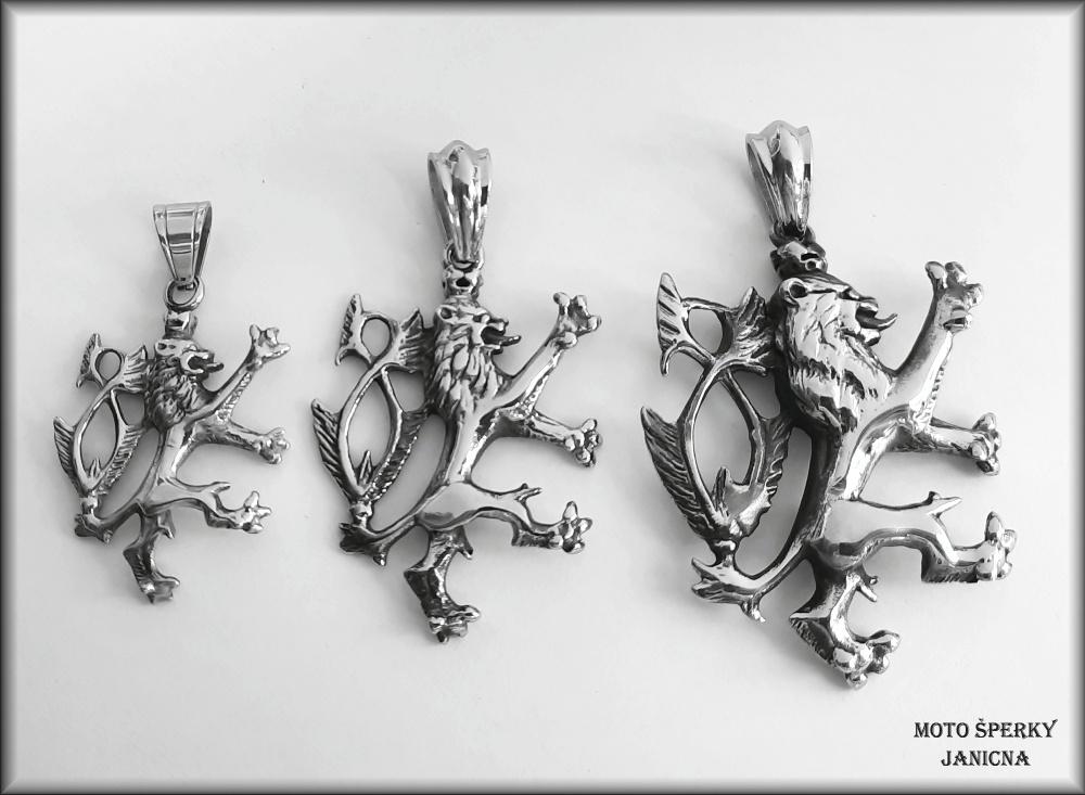 přívěšek český lev ocel