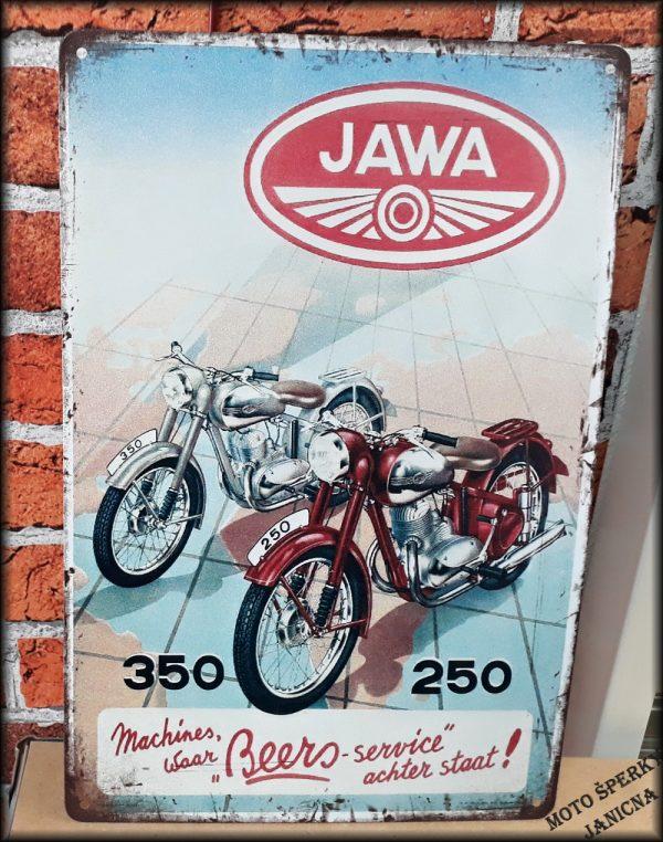 Plechová cedule Jawa