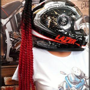 Culík/cop na přilbu černo-červený