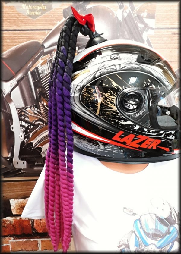 Cop na přilbu fialovo-růžový