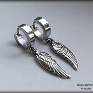 náušnice křídla ocel