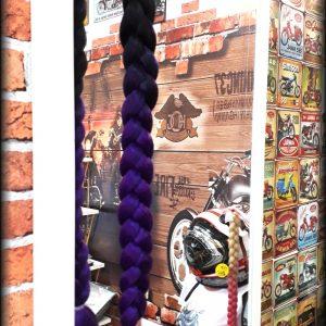 Culík na přilbu černá-fialová