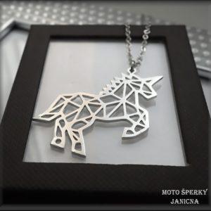 přívěšek jednorožec unicorn ocel