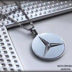 Přívěšek Mercedes ocel