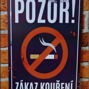 plechová cedule zákaz kouření
