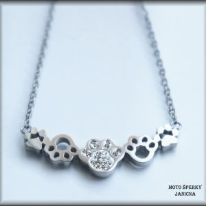řetízek náhrdelník tlapky ocel
