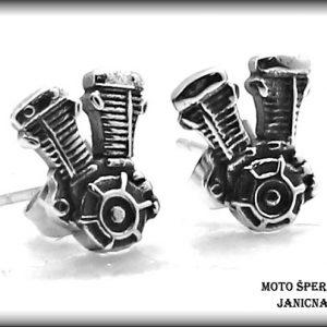 Náušnice motor ocel