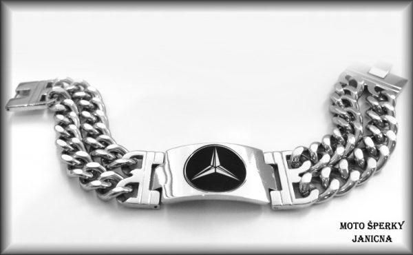 Náramek Mercedes ocel
