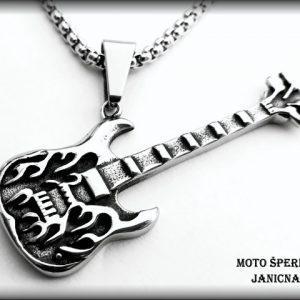 kytara s řetízkem chir. ocel