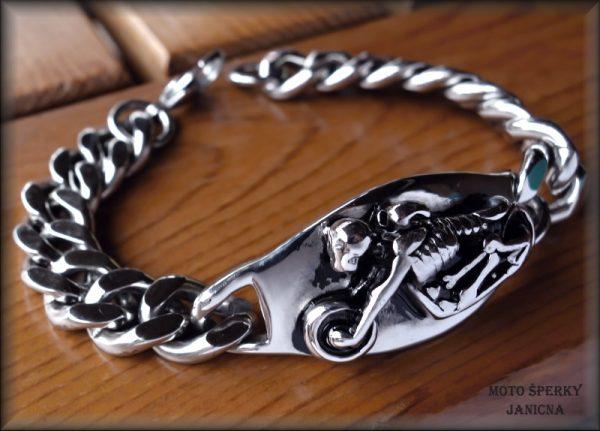náramek s motorkou ocel